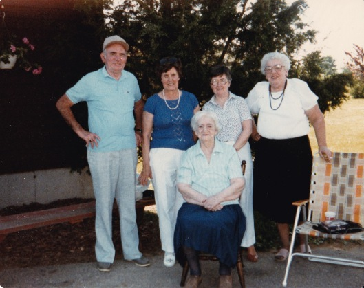 Nancy Mary Tom Anne Grandma McD circa 1980s